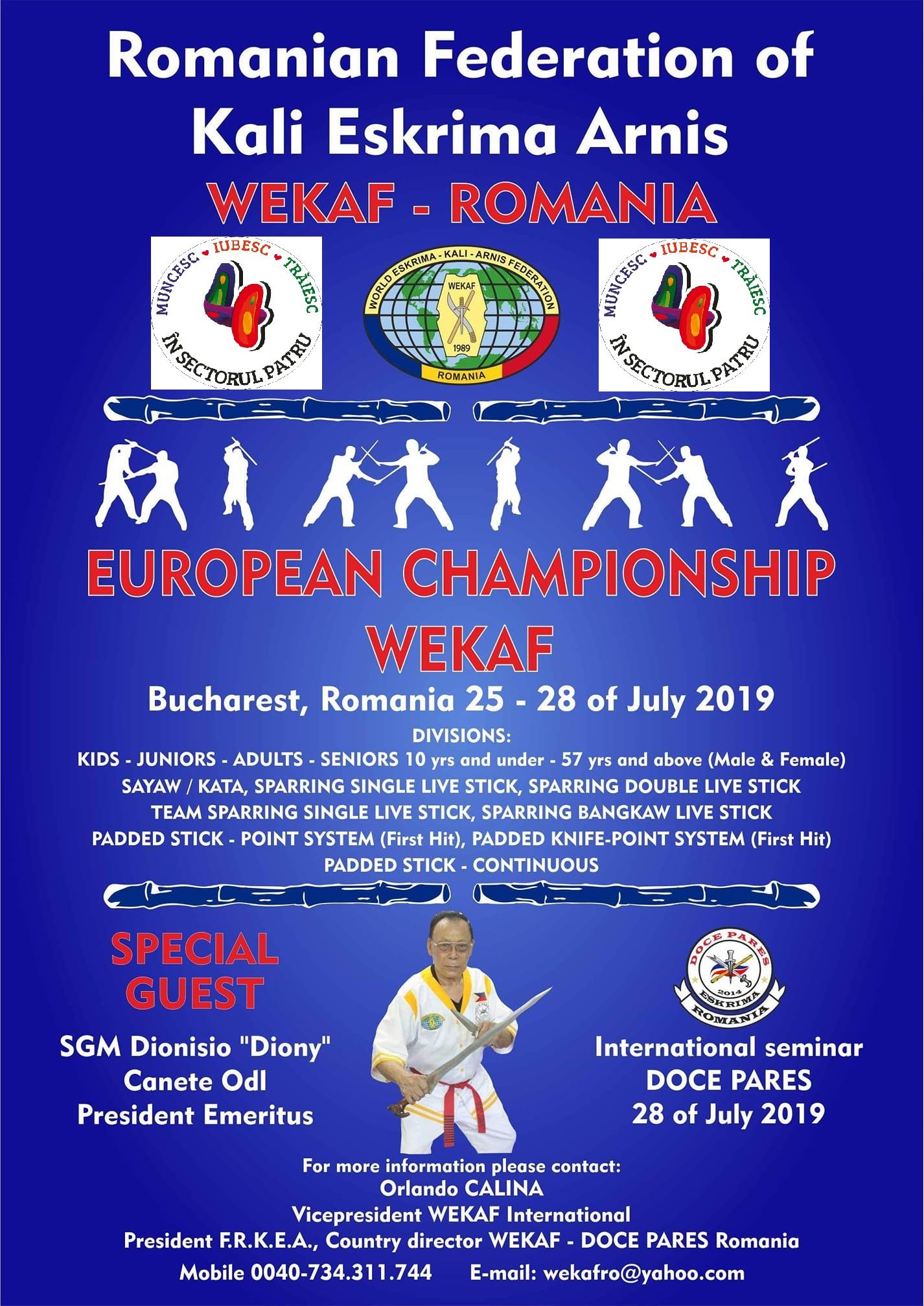 orlando wekaf european championship 2019 bucharest